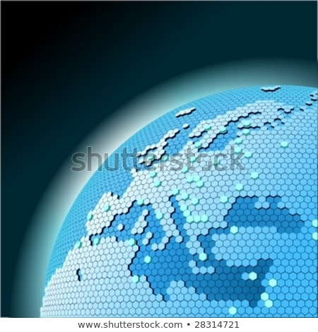 Cellular Network Theme Stock fotó © Mechanik