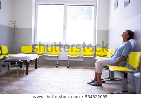 Woman waiting in a corridor Stock photo © photography33