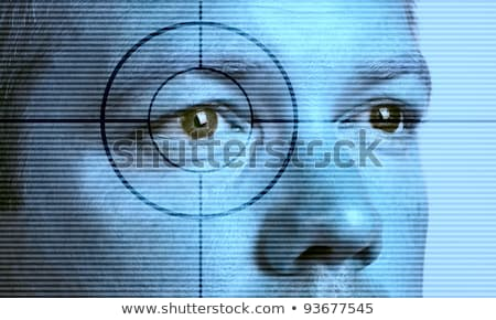 mans blue eye and target stock photo © vlad_star