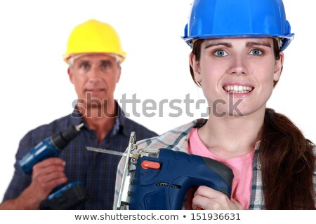Tradespeople holding power tools Stock photo © photography33