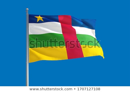 Political waving flag of Central African Republic Stock photo © perysty