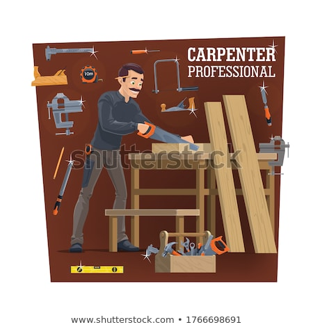 Handyman with a handsaw Stock photo © photography33