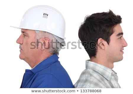 Constructeur jeunes apprenti construction design maison Photo stock © photography33
