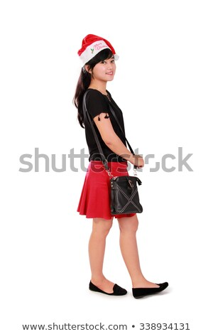 gorgeous santa woman walking Stock photo © feedough