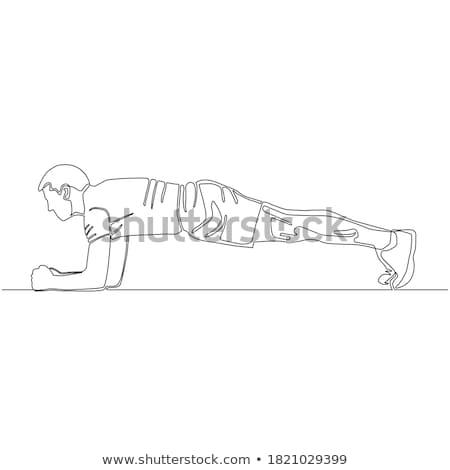 fitness · oefening · jongen · gezonde · jonge - stockfoto © mikko