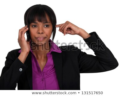 classy black businesswoman making a call Stock photo © photography33