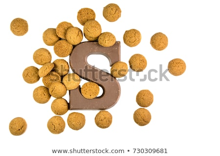 chocolate letter and pepernoten Stock photo © compuinfoto