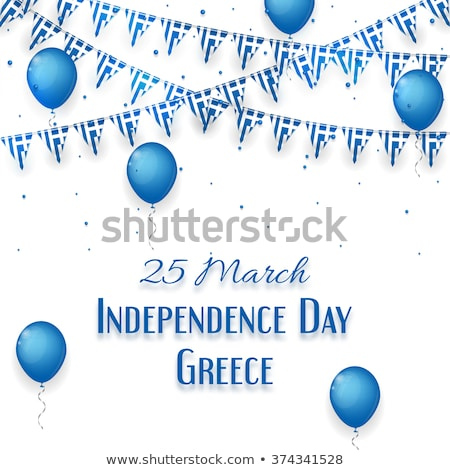 vector illustration of blue balloon of greek flag  Stock photo © experimental