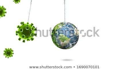 Isolato pianeta mondo bianco mappa abstract Foto d'archivio © wavebreak_media