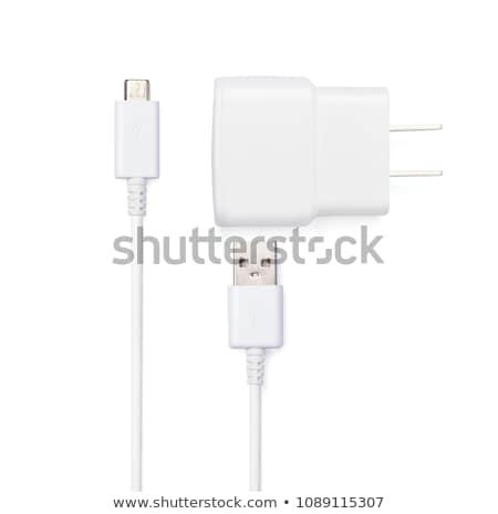 Adapter. On a white background. Stock photo © ozaiachin