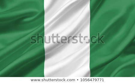 Fabric texture of the flag of Nigeria Stock photo © maxmitzu