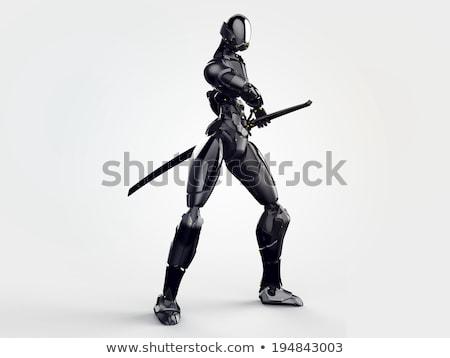 Foto stock: O · homem · 3d · ninja · esportes · corpo · fitness