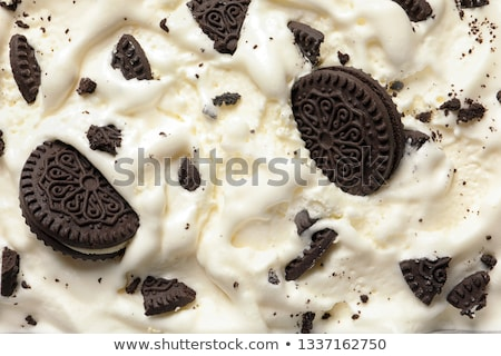 vanilla flavor ice cream with chocolate crumbles from top Stock photo © Rob_Stark