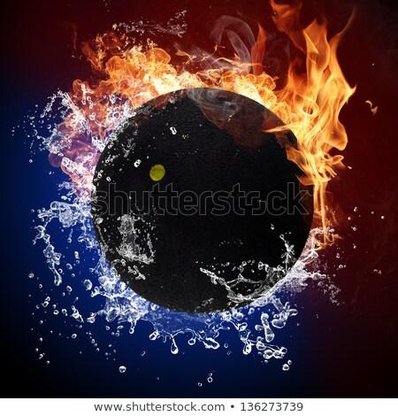 Calabacín pelota fuego llamas agua Foto stock © Kesu