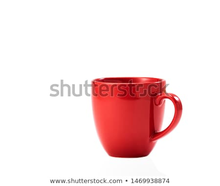 Red ceramic cup. Stock photo © snyfer