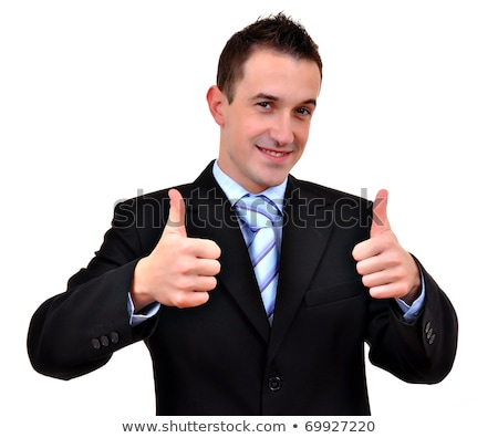 young business man going thumb up, isolated on white Stock photo © dacasdo