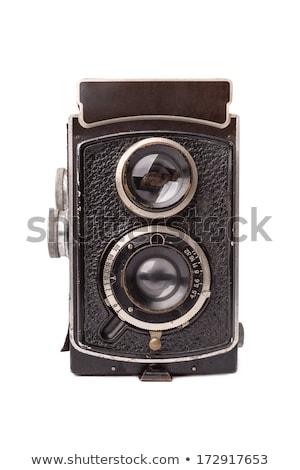 Old vintage camera white isolated Stock photo © deyangeorgiev