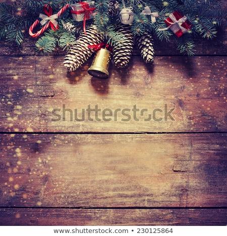 christmas · briefkaart · groene · Rood - stockfoto © wad
