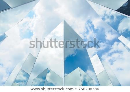 雲 空 反射 ミラー 建物 オフィスビル ストックフォト © tungphoto