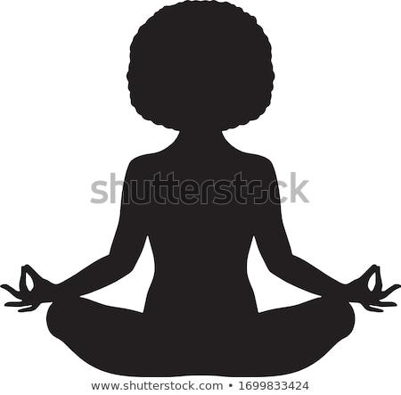 méditer · yoga · mer · Homme · séance · océan - photo stock © geribody