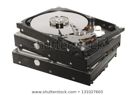 Three opened Hard drives isolated on white background stock photo © Kirill_M