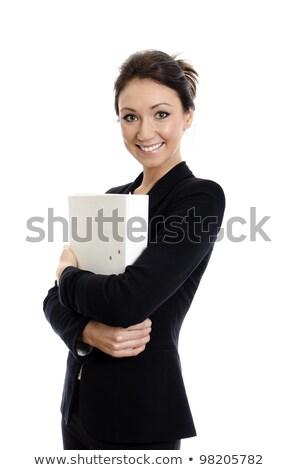 cuidadoso · secretário · imagem · doente · empresário · olhando - foto stock © kzenon