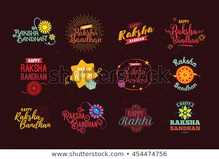 Vector illustration of card colorful Raksha bandhan festival des Stock photo © bharat