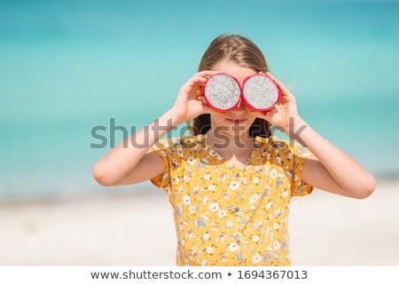 счастливым ребенка лице стороны глаза Сток-фото © jeancliclac