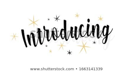 introduce Stock photo © elwynn