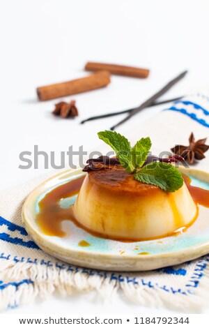 panna cotta with caramel stock photo © m-studio