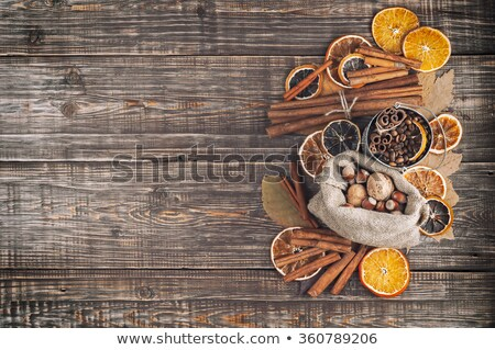 coffee beans, cinnamon and nuts Stock photo © oly5