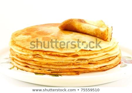 Geïsoleerd ei melk tarwe ontbijt Stockfoto © M-studio