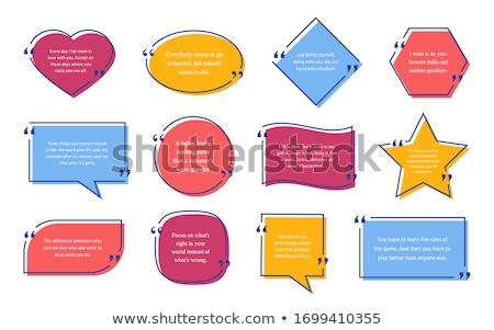 Hart tekst vak abstract leuk Stockfoto © shawlinmohd
