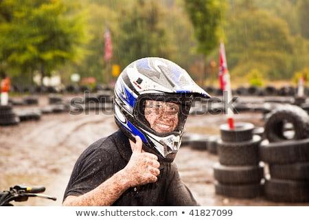 boy enjoys Quad driving Stock photo © meinzahn