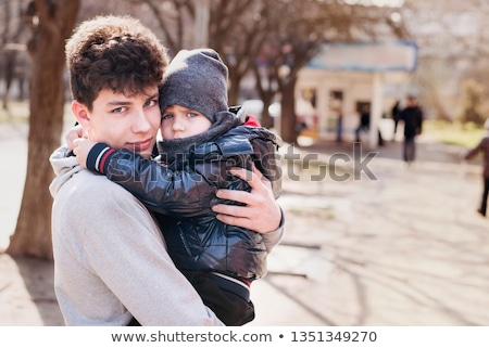 счастливым · детей · положительный · свежие · улыбаясь · мальчики - Сток-фото © meinzahn