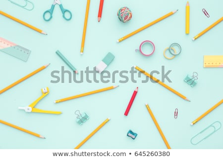 tanszerek · üres · papír · iskola · asztal · papír · toll - stock fotó © tagore75