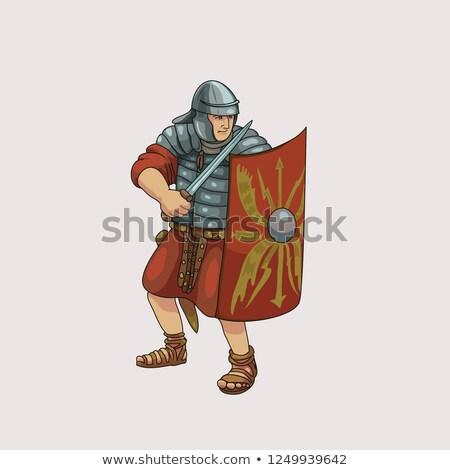 Legionary soldier with gladius Stock photo © Nejron