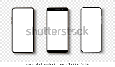 Mobile phone isolated on white. Realistic 3d smartphone vector. Stock photo © MPFphotography