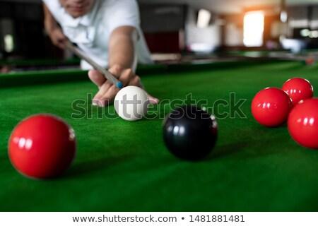 Snooker játékos nyitás lövés kéz sport Stock fotó © bmonteny