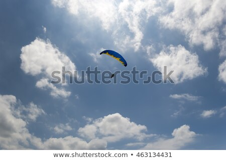 Sky gliding in cloudy sky Stock photo © BSANI