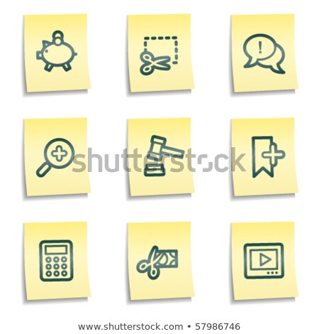 Banking Buttons - Sticky Stock photo © cteconsulting