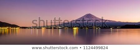 panorama · montanhas · pôr · do · sol · alto · paisagem · neve - foto stock © taiga