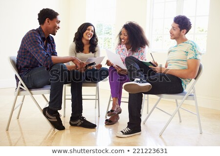 office chairs having a meeting stock photo © anterovium
