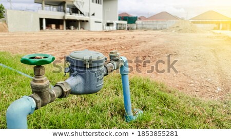 Large Pipeline Industrial Hydroelectric Industry Construction Vi Stock photo © cboswell