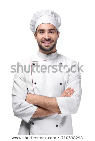 Portrait of caucasian man with chef uniform Stock photo © HASLOO