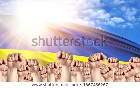 bandeira · Ucrânia · fundo · azul · cor · oriental - foto stock © stevanovicigor