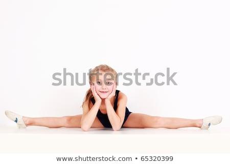 kicsi · tornász · lány · tánc · ritmikus · torna - stock fotó © brebca