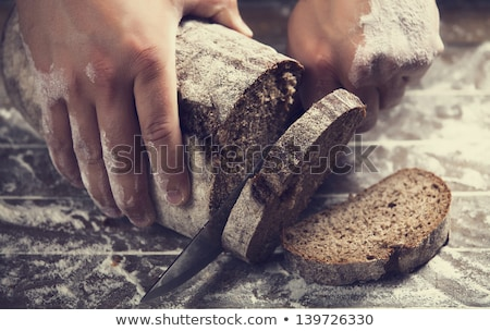 brood · brood · geïsoleerd · witte · keuken · boerderij - stockfoto © oleksandro