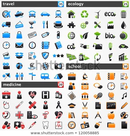 çevre dostu kırmızı vektör ikon düğme Internet Stok fotoğraf © rizwanali3d