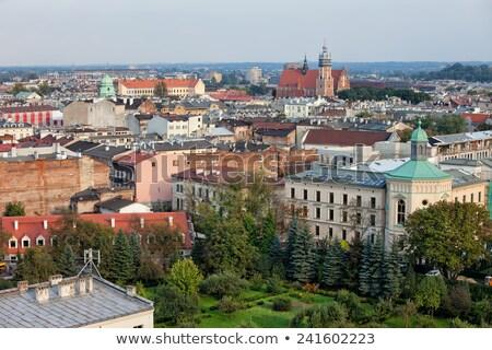 Fölött Krakkó város Lengyelország felülnézet épület Stock fotó © rognar